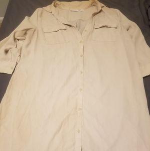 Cream Shirt Dress